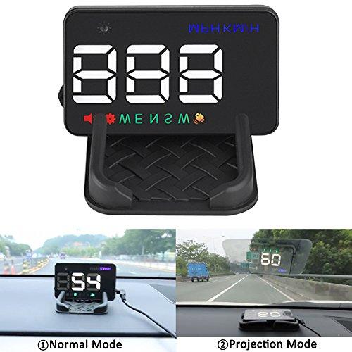 NEW SUN Car HUD GPS Speedometer 3.5″ Head Up Display Digital Overspeed Warning Alert Projector