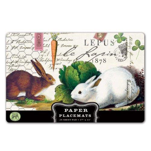 - Michel Design Works Placemats, Bunnies, 25-Sheet