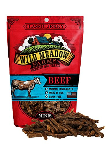 - Wild Meadow Farms - Classic Beef Minis - USA Made Soft Jerky Training Treats for Dogs