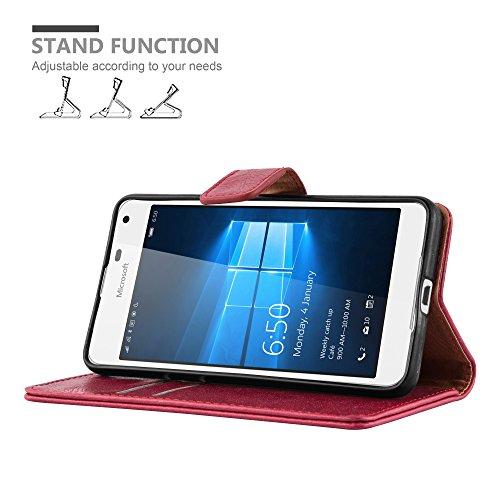 Cadorabo - Funda Estilo Book Lujo para Nokia Lumia 650 con Tarjetero y Función de Soporte