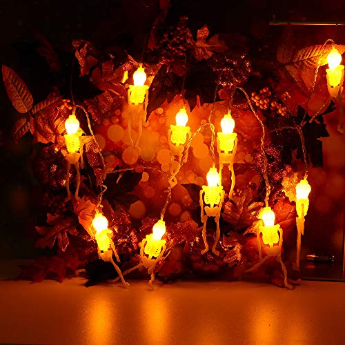 Clearance Sale!Toimoth 10LED Halloween LED Decorative Lights Party Familye Ghost Festival Decoration(Yellow,B) -
