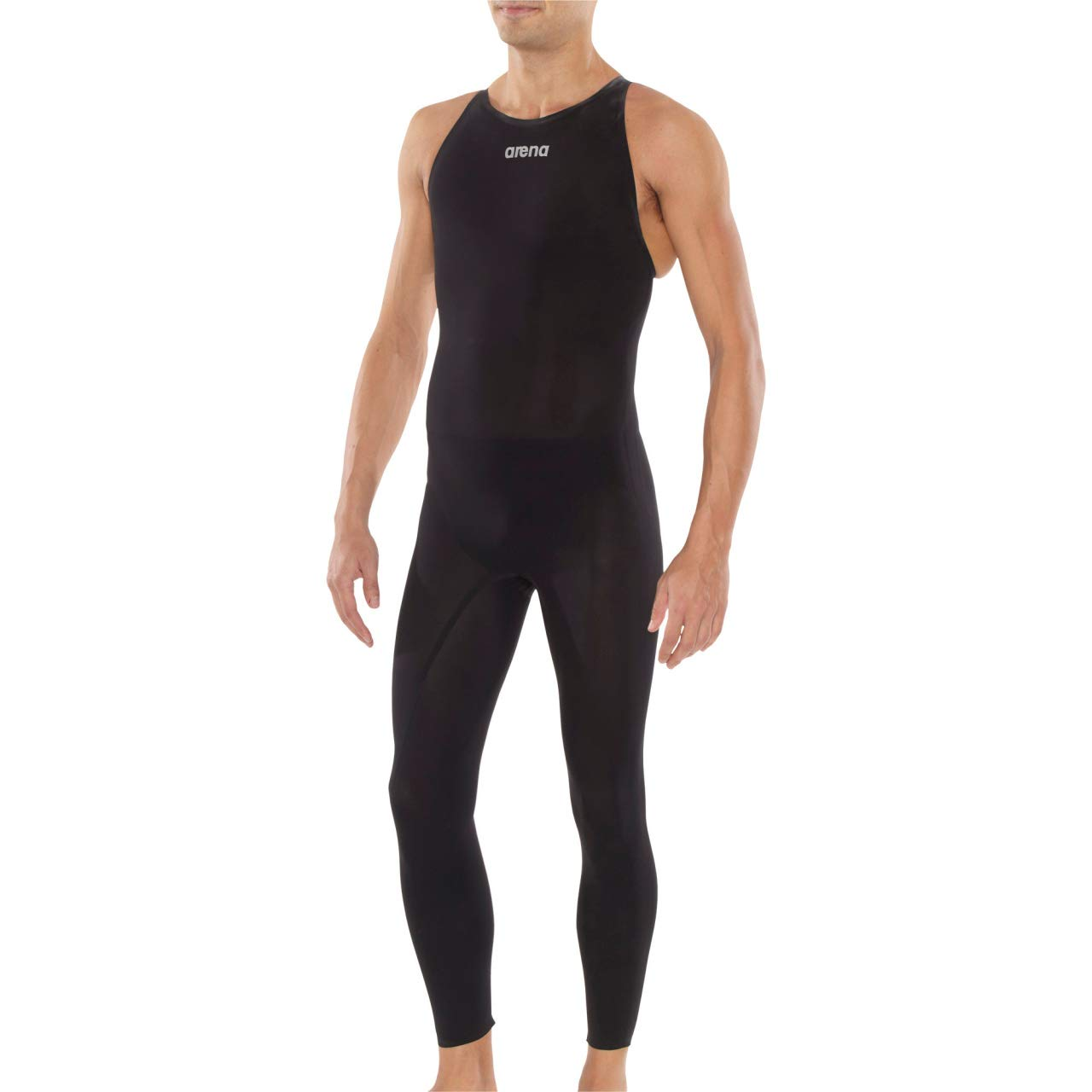 arena Powerskin R-Evo+ Open Water Closed Back Men's Racing Swimsuit, SL Black, 24