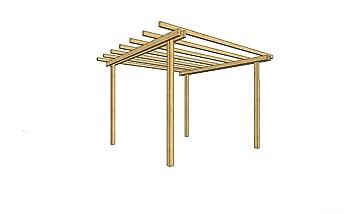 Turbo Amazon.de: LosaLegnami Pavillon Pergola 200 x 200 Holz Kiefer FU04