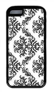 Hot iPhone 5C Customized Unique Print Design Patterns Shop Damask Seamless Pattern Tutorial New Fashion Tpu Black iPhone 5C Cases