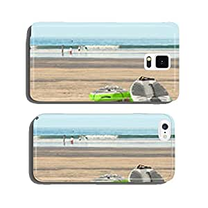 Two stand up paddleboards on beach sand by the ocean cell phone cover case iPhone6 Plus