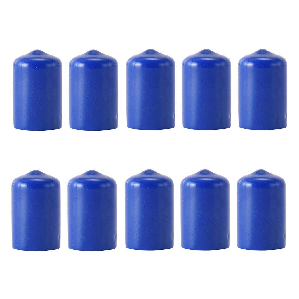 ButyYI スヌーカー ビリヤードキューチップ ゴムプロテクター アクセサリー 10ピース プールキューを保護 B07PGRHSLG ブルー