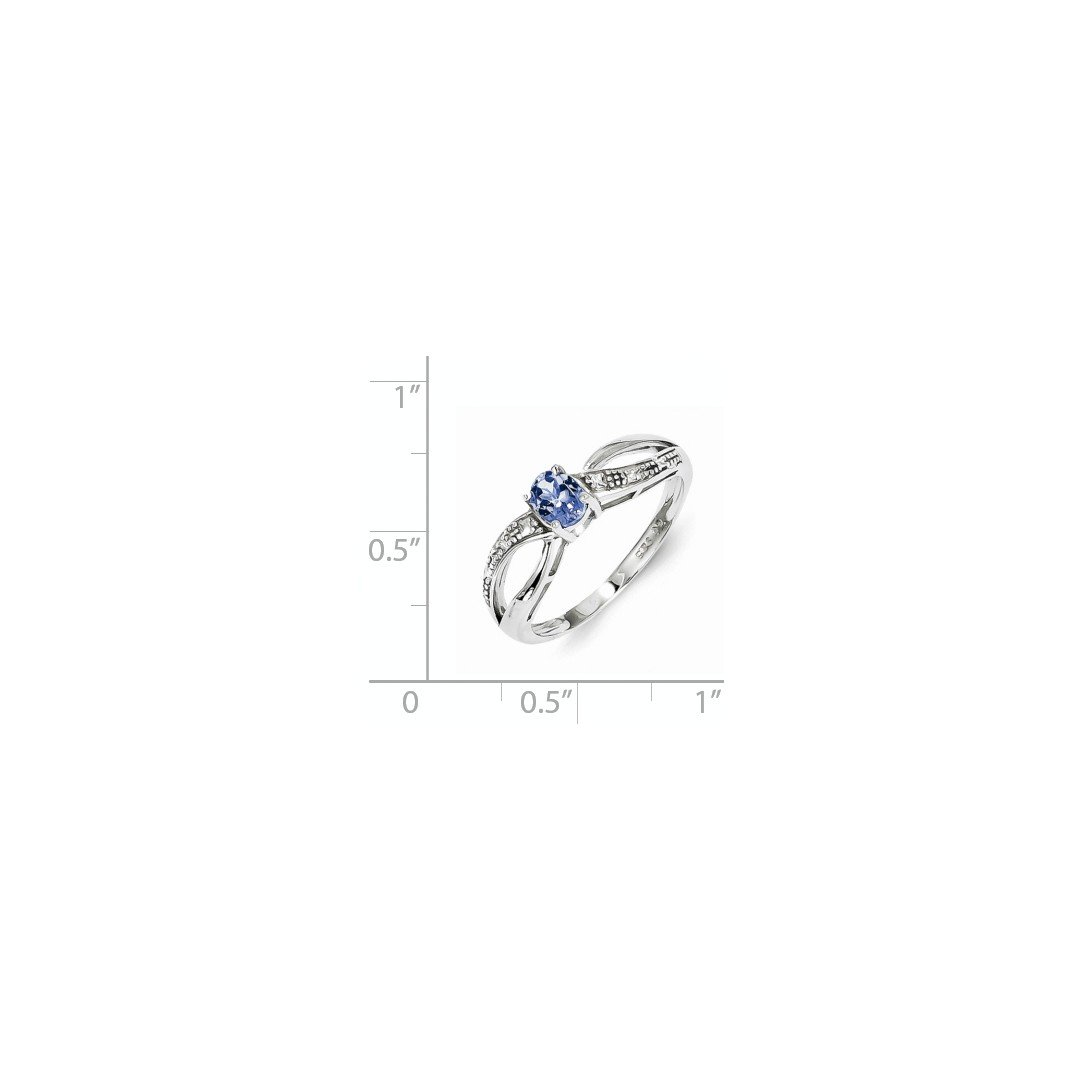 ICE CARATS 925 Sterling Silver Diamond Blue Tanzanite Band Ring Size 6.00 Gemstone Fine Jewelry Ideal Mothers Day Gifts For Mom Women Gift Set From Heart by ICE CARATS (Image #2)