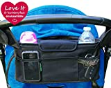Stroller Organizer Bag & Cup Holder, Universal Fit
