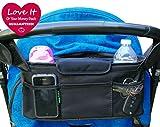 Stroller Organizer Bag & Cup Holder, Universal Fit