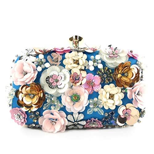 Clutch Purse Flower Evening Bag Wedding Evening Bride Floral Clutch With Metal Hand Strap