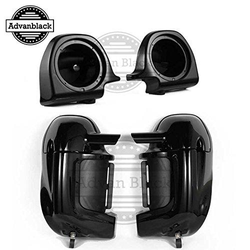 Same Day Shipment! Vivid/Glossy Black FLTR Lower Fairings with Speaker Pods 6.5