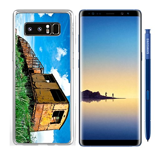 Luxlady Samsung Galaxy Note8 Clear case Soft TPU Rubber Silicone IMAGE ID 25828419 Derelict Train carriages (Carriage Train)
