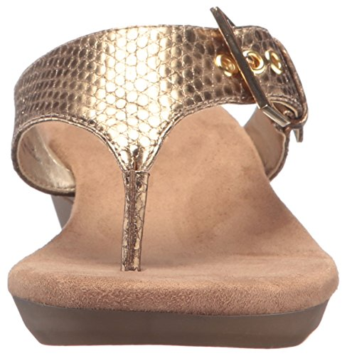 Aerosoles Gold Women Snake Wedge Sandal Flower wraxwT7q