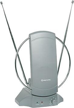 Mercury Interior amplificada TV/FM Antena con Amplificador de señal y 4 G Ready