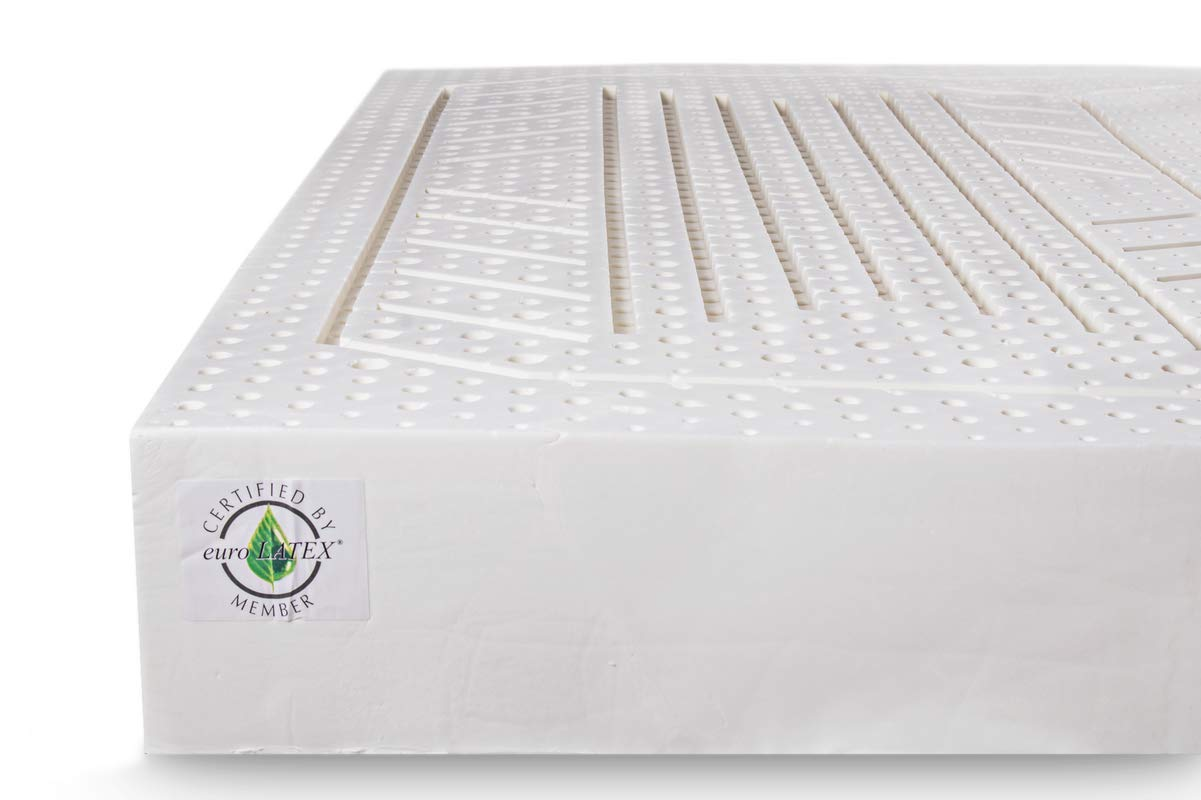 KAMA HAUS COLCHÓN 100% Latex  80 x 200 cm.  Sistema 7 Zonas   Desenfundable   Funda Aloe Vera  Especial para Cama articulada  Altura aproximada 18cm ...