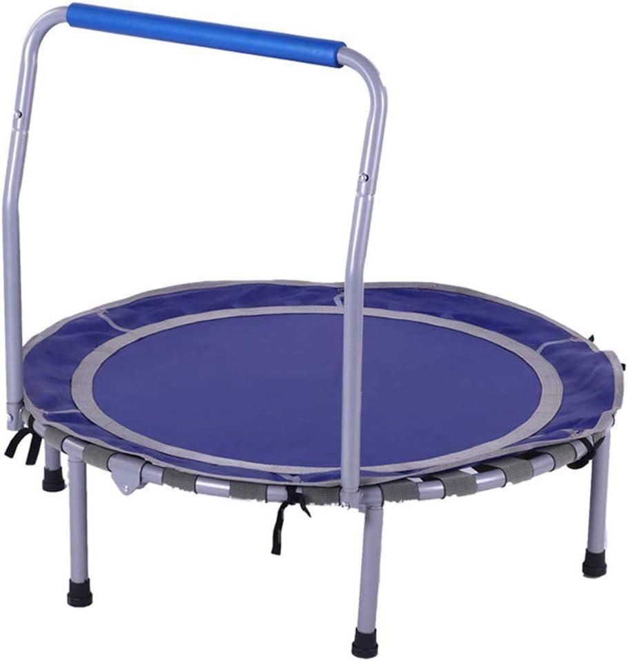LKFSNGB Mini trampolín para niños - Cincha elástica Plegable - Trampolín de Juguete para niños con Asas Blandas para Interiores y Exteriores, Apto para niños de 3 a 12 años (niños y niñas)
