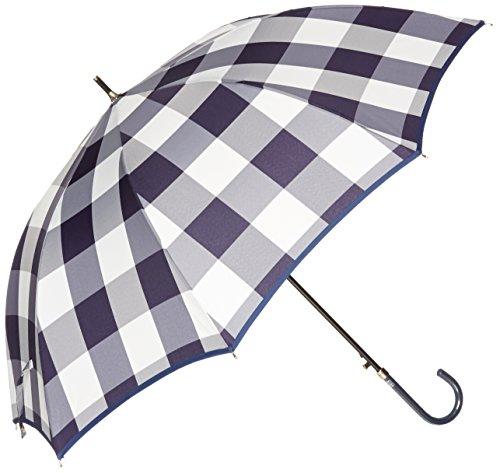 (문 배트) MOONBAT 랑방 온 블루 장우산(내풍우산) 점프식 카 티오《쟈카도》 체크 무늬