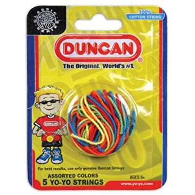 Duncan Toys Yo-Yo String [Assorted Colors] - Pack of 5 Cotton String for Plastic, Metal Yo-Yos: Toys & Games