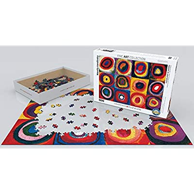 EuroGraphics Color Study of Squares and Circles, 1913 by Kandinsky Puzzle (1000-Piece), Model:6000-1323: Toys & Games