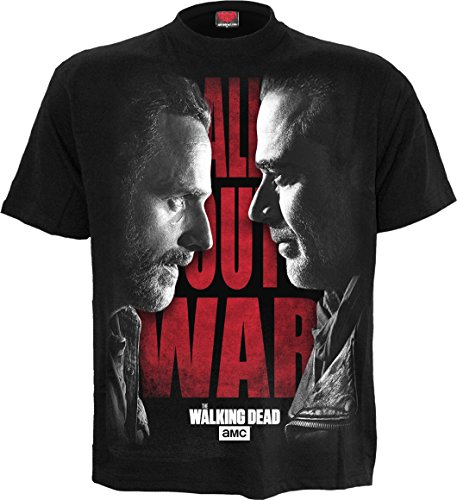 Spiral Mens - All Out War - Walking Dead T-Shirt Black - S (Walking Vintage T-shirt)