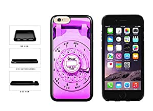 Pink Dial Retro Phone TPU RUBBER Phone Case Back Cover Apple iPhone 6 (4.7 inches screen) includes BleuReign(TM) Cloth and Warranty Label