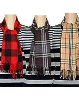 Fablook Men's Woollen Scarves FAB-gentsmuffler-black_Assorted_ Free Size