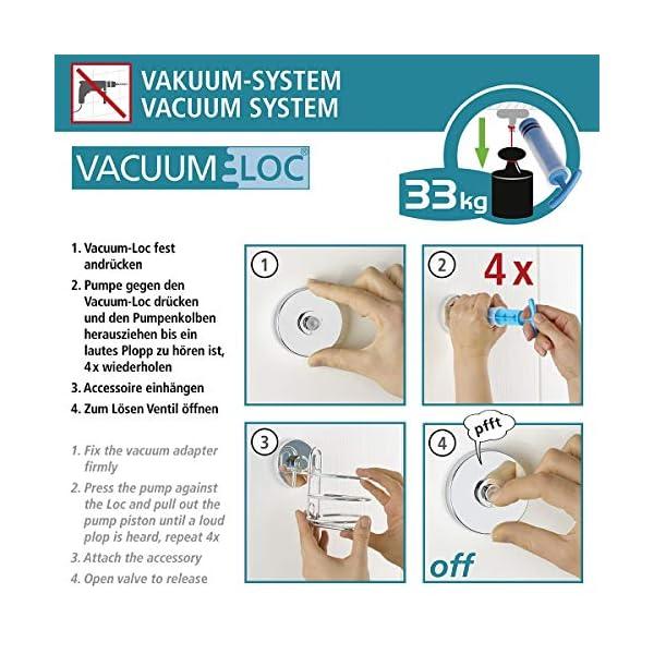 51lftcRPkmL WENKO Vacuum-Loc Wandhaken im 2er Set, Handtuchhalter, Haken für Handtücher und Accessoires, Vakuum Befestigung ohne…