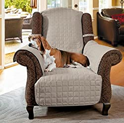 Microfiber Furniture Protector with D Ring Strap-Recliner/Wing
