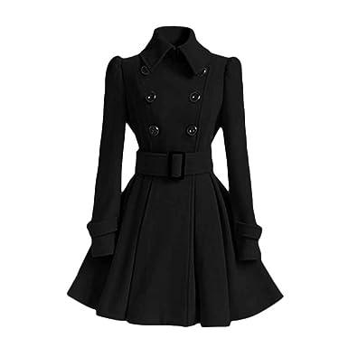 Manteau de jupe ¨¤ double boutonnage avec boucle de ceinture Rabat de  manteau ¨¤ b705c43048d