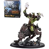 "WOW WORLD of WARCRAFT BLIZZARD VETERAN ORC WARRIOR WOLF RIDER STATUE FIGURE 10"" FIGURINES COMIC TOY"