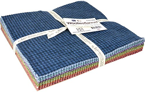 Woolies Flannel Colors Assortment 42 - 10'' x 10'' Squares by Bonnie Sullivan from Maywood Studios SQ/MASWOF-COL by Maywood Studio