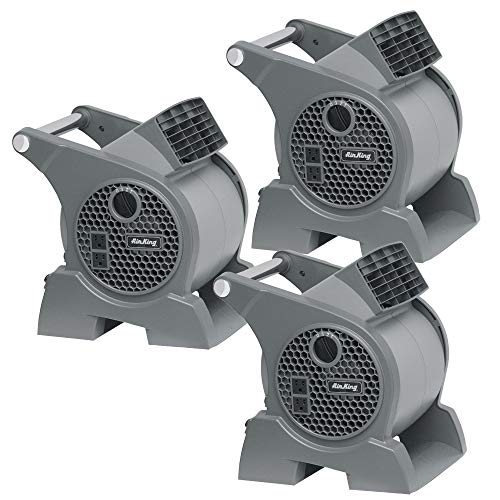 Air King Pro 3 Speed 1/16 HP Portable Commercial Grade Pivoting Utility Blower (3 Pack)