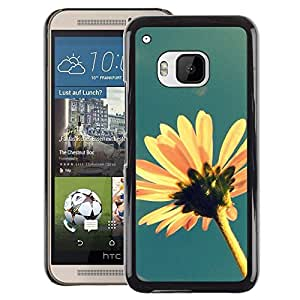 Red-Dwarf Colour Printing Sun Summer Flower Field Yellow Blue - cáscara Funda Case Caso de plástico para HTC One M9