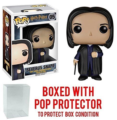 Funko Pop! Movies: Harry Potter - Severus Snape #05 Vinyl Figure (Bundled with Pop BOX PROTECTOR CASE)