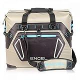 Engel HD30 Waterproof Soft-Sided Cooler Bag - Tan/Blue (Renewed)