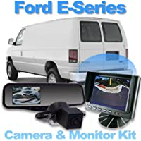 Complete Rear Camera System with 4.3 Mirror Monitor for Ford E-Series