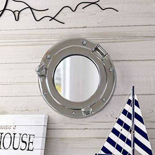 Coastal Space Designs MR 4860-VC Solid Brass 11 Glass Porthole-11 inch Shiny Finish-Boat Window Nautical Ship D cor-Maritime Fan Gift, 11 , Gold