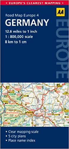 AA Road Map Germany (Road Map Europe 4) (AA Road Map Europe): Amazon ...