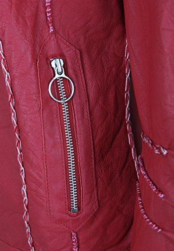 Freaky Nation Kelly, Chaqueta para Mujer Rojo