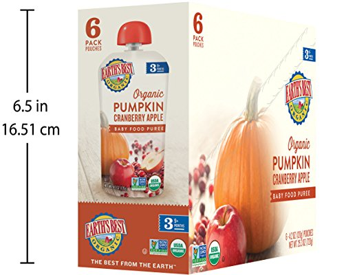 Earth's Best Organic Stage 3, Pumpkin, Cranberry & Apple, 4.2 Ounce Pouch (Pack of 12) (Packaging May Vary) by Earth's Best (Image #7)'