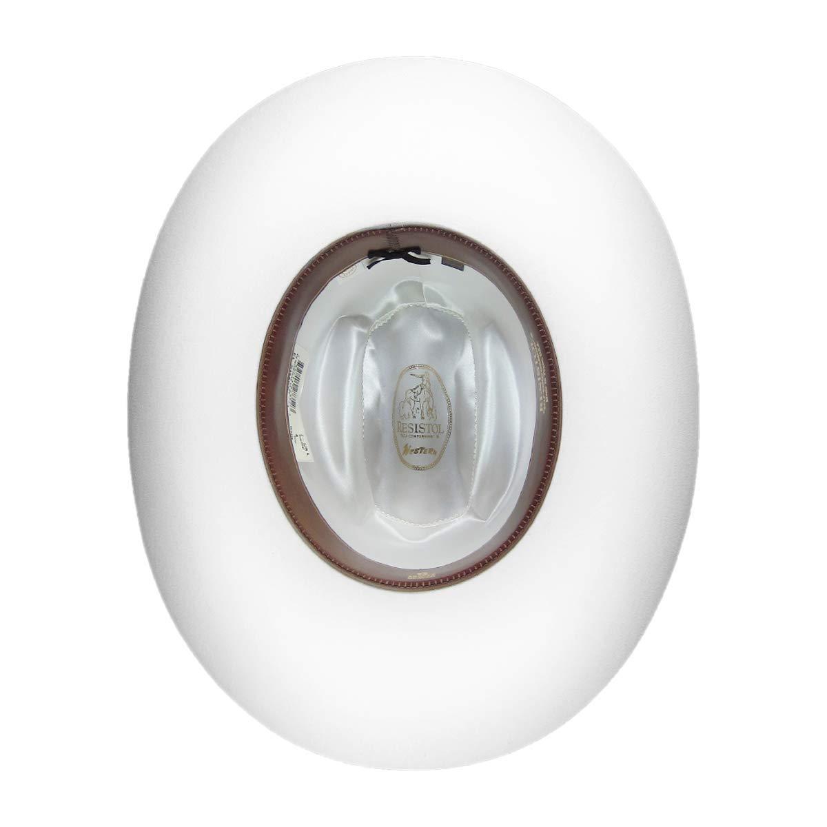 Resistol El Simbolo White Cattleman Cowboy Hat Size 7 5/8 Oval 4
