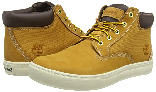 Beige Chukka Timberland Stivali And Fabric Uomo Dauset Wheat Leather Nubuck qXXP10B