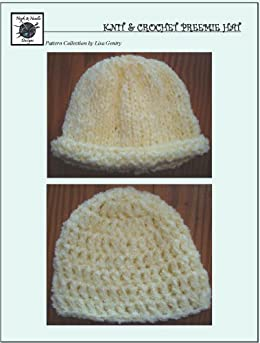 Knitting Pattern Central Preemie : Easy Knit & Crochet Preemie Hat - Crochet Pattern #118 for ...