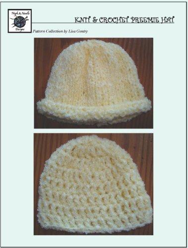 Easy Knit & Crochet Preemie Hat - Crochet Pattern #118 for Baby Hat