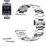 22mm Stainless Steel Butterfly Buckle Watch Band For Samsung Gear 2, Gear Neo, Gear Live (YESOO Retail Packaging - 180 Days Warranty) (Silver)