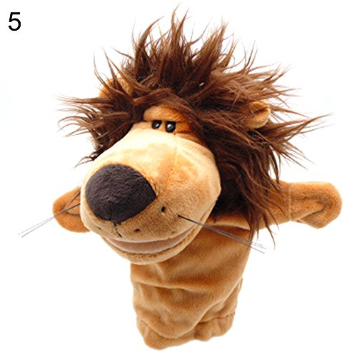 - lightclub Cartoon Animals Monkey Dog Lion Stuffed Plush Hand Puppet Xmas Kid Children Gift 5#