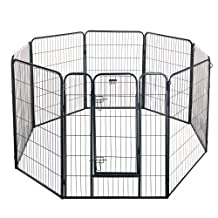 """Pet Trex 2345 40 Inch Black Playpen Heavy Duty Playpen for Indoor and Outdoor Use, 40"""", Black"""