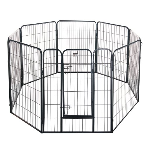 Pet Trex 2345 40 Inch Black Playpen Heavy Duty Playpen for Indoor and Outdoor Use, 40'', Black by Pet Trex