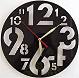 Imoerjia Living Room Wall Clock Fashion Clock Creative Clocks Carved Sculpture Styling