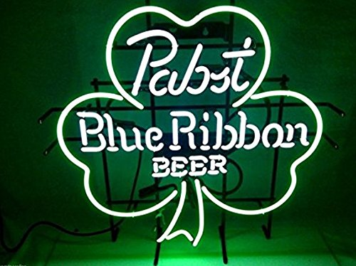 New Handcrafts pabst blue ribbon shamrock Neon Light for sale  Delivered anywhere in USA